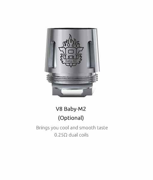 SMOK TFV8 Baby Coils (5-Pack) - Authentic Smok V8 Baby-M2 0.25 Ω ( 5pcs / pack)