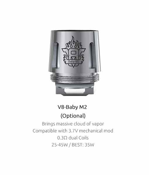 Authentic Smok V8-Baby M2 0.30Ω (5pcs / pack)