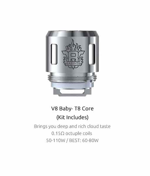 SMOK TFV8 Baby Coils (5-Pack) - Authentic Smok V8 Baby T8 0.15 Kanthal Coils 5 pack