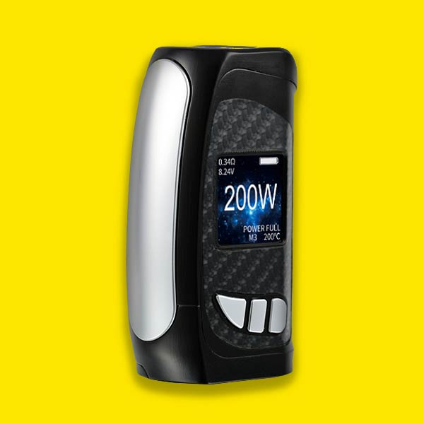 KMG Imports Vape Pioneer4You IPV Eclipse Yihi IPS HD Color Screen 200w Mod Pre Order Now SILVER