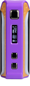 Pioneer4you IPV Velas 120W Box Mod that uses the YiHi SX410 Chip Seven and has a seven color LCD Strip. Available in six brilliant colors: Silver, Red, Yellow, Purple, Gun Color and Black.
