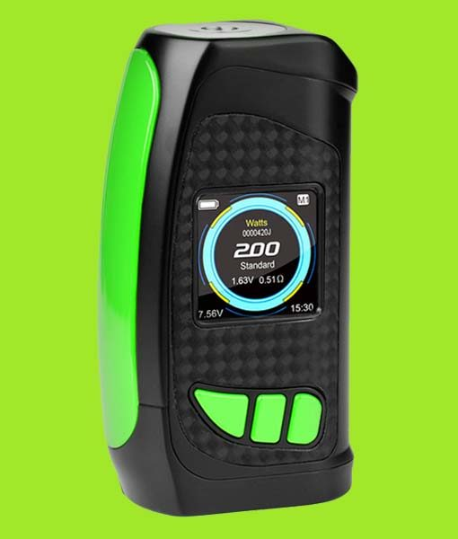 Pioneer4You IPV Eclipse 200W TC Box Mod - KMG Imports YiHi SX420 Chipset with full color HD Display SX Box Mod in GREEN