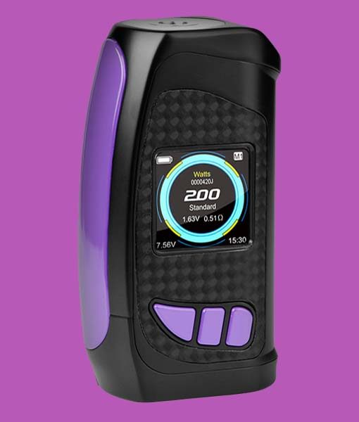 Pioneer4You IPV Eclipse 200W TC Box Mod - KMG Imports YiHi SX420 Chipset with full color HD Display SX Box Mod in PURPLE