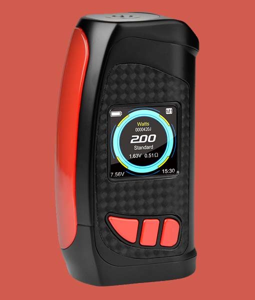 Pioneer4You IPV Eclipse 200W TC Box Mod - KMG Imports YiHi SX420 Chipset with full color HD Display SX Box Mod in RED