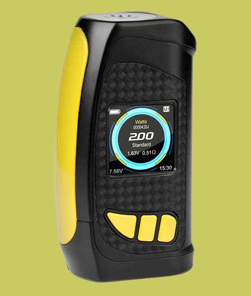 Pioneer4You IPV Eclipse 200W TC Box Mod - KMG Imports YiHi SX420 Chipset with full color HD Display SX Box Mod in YELLOW