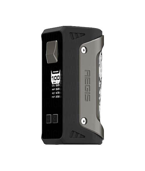 Geek Vape AEGIS 100W Box Mod KMG Imports Vape Mod Tempeture Control Box Mod 100W Maximum Output Wattage Waterproof Shockproof Dustproof single battery Gun Metal