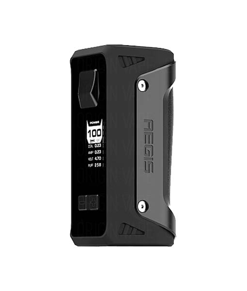 Geek Vape AEGIS 100W Box Mod KMG Imports Vape Mod Tempeture Control Box Mod 100W Maximum Output Wattage Waterproof Shockproof Dustproof single battery Stealth Black