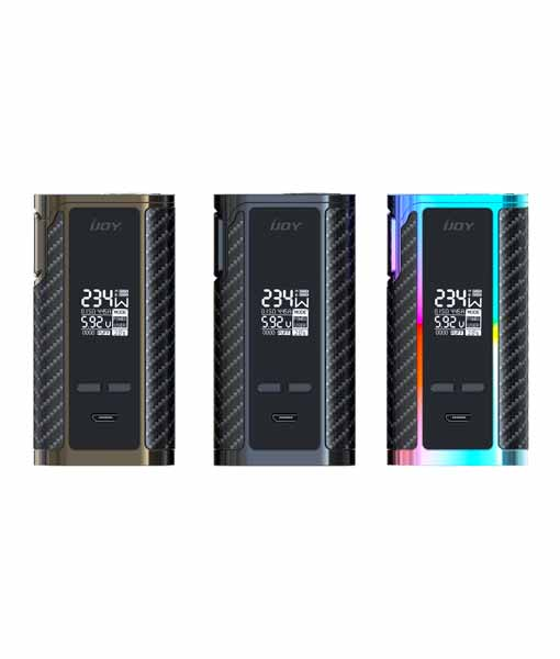 Pioneer4You iPV iPV Eclipse SXmini featuring YiHi chipsets - iJOY Captain PD270 TC Box Mod - KMG Imports 234W Dual Batery OLED Display Micro USB Color Black Black Gun Metal Rainbow