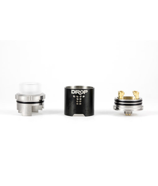 Digiflavor Drop RDA 4 large post holes interchangeable Squonk Pin KMG Import Vape Black 5