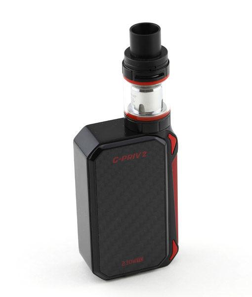 SMOK G-Priv 2 Kit With TFV8 X-Baby Tank 230W Touch Screen Mod KMG Imports Vape Black Red 2
