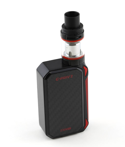 SMOK G-Priv 2 Kit With TFV8 X-Baby Tank 230W Touch Screen Mod KMG Imports Vape Black Red 2
