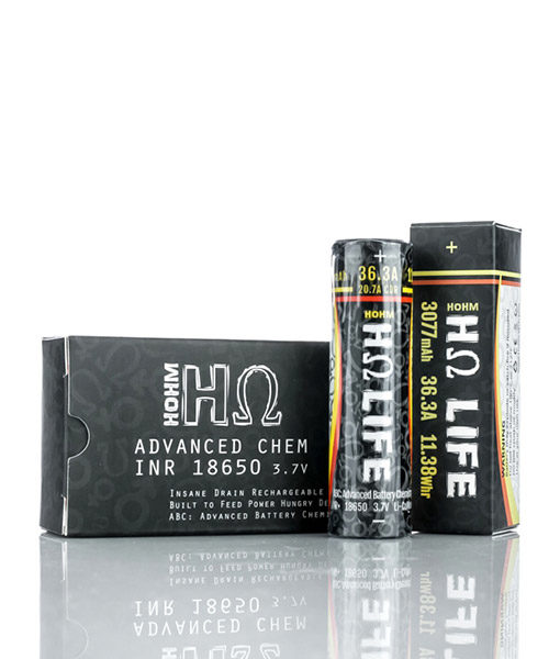Hohm Life 18650 3077mAh 20.7A Battery