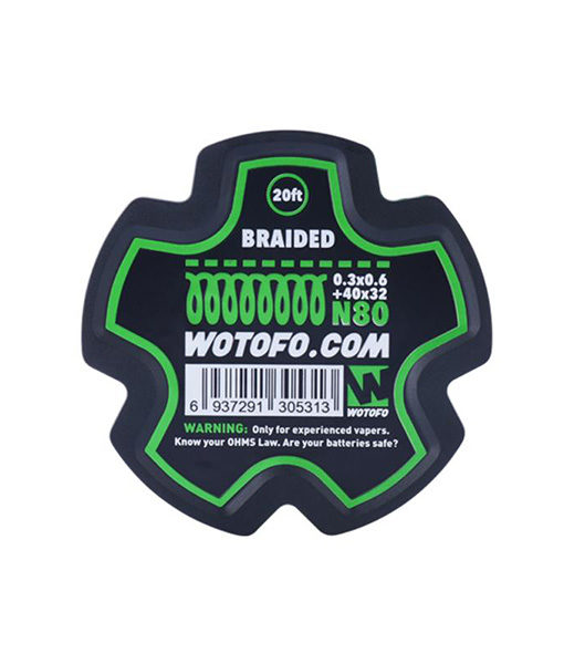 Wotofo Braided Wire Roll - 20 Feet