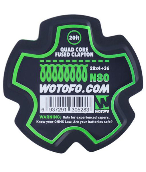 Wotofo Quad Core Fused Clapton Wire Roll - 20 Feet
